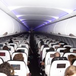 Interior of Virgin America A320
