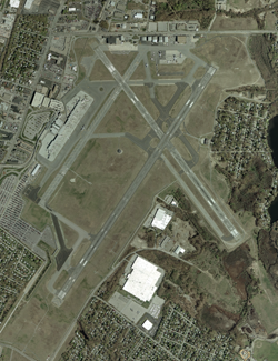 USGS aerial photo of T. F. Green Airport in Wa...